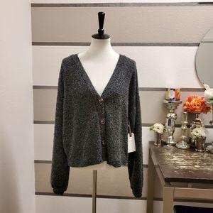 Blue Pepper NWT Button Up Sweater Sz L